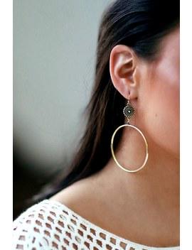 Avana Gold Hoop Earrings by Lulus