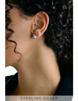 Cassadaga Sterling Silver Rhinestone Star Earrings by Lulus