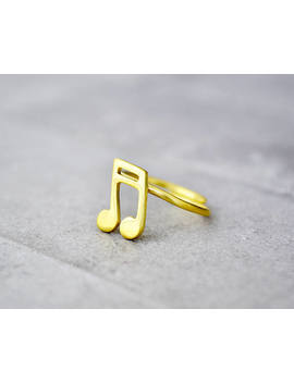 Note Ring / Music Ring / Musician Gift / Cute Rings/ Inspirational Gift / Gift For Women / Graduation Gift / Fun Rings / Best Friend Gift by Etsy