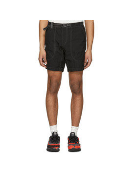 Black Dry Rip Shorts by And Wander