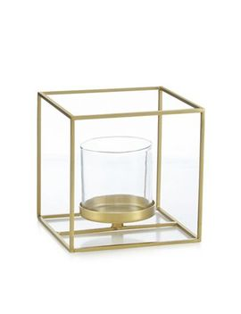 J By Jasper Conran   Small Gold Metal And Glass Candle Holder by J By Jasper Conran