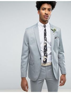 Farah Skinny Wedding Suit Jacket In Mint by Farah