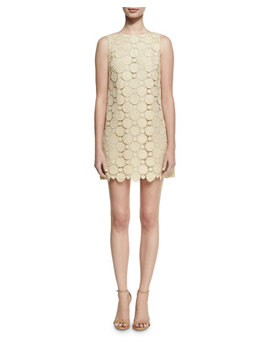Clyde A Line Shift Mini Dress, Gold by Alice + Olivia