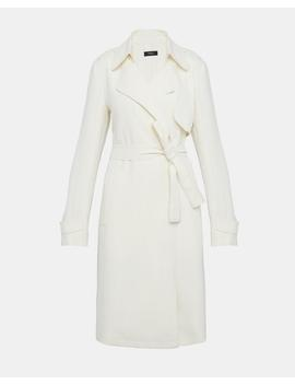 Crepe Belted Trench Coat by Theory