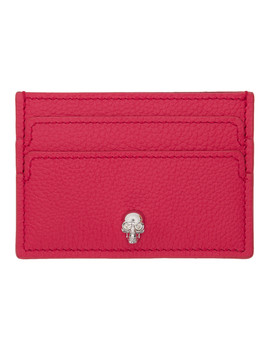 Pink Skull Card Holder by Alexander Mcqueen