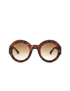 Women's Retro Round 49mm Acetate Frame Sunglasses by Gucci