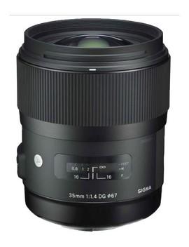 35mm F/1.4 Dg Hsm Art Standard Lens For Nikon   Black by Sigma
