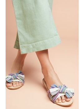 Anthropologie Striped + Knotted Sandals by Anthropologie
