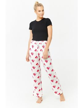 Watermelon Graphic Pajama Pants by F21 Contemporary