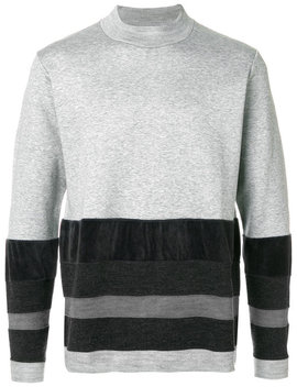 Colour Block Striped Sweater by White Mountaineering