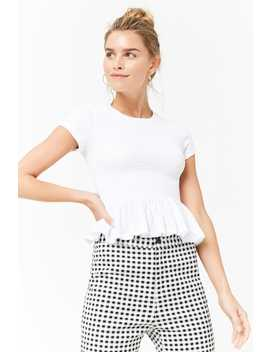 Smocked Ruffle Top by F21 Contemporary