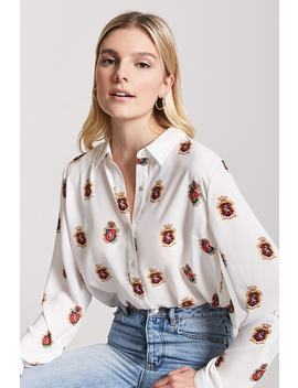 Hemd Mit Wappenmuster by Forever 21