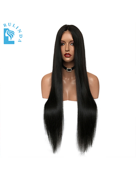 "Alicrown Lace Front Human Hair Wigs Bleaches Knots Straight Brazilian Remy Hair Wig 10 24""Pre Plucked Natural Hairline by Ali Express"