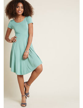 Relaxed Attitude Knit Dress In Sage Relaxed Attitude Knit Dress In Sage by Modcloth