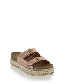 Topaz Embellished Slide Sandal by Mia