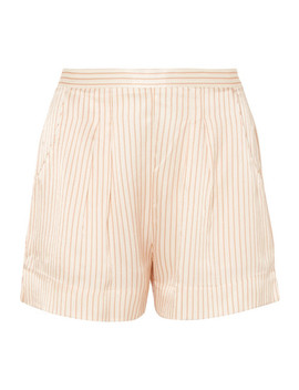Riga Frutti Striped Silk Seersucker Pajama Shorts by Eres