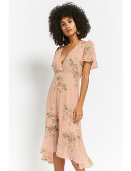 Floral Chiffon High Low Dress by Forever 21