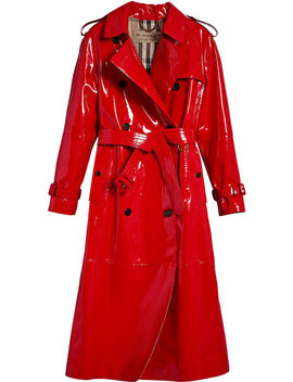Patent Trench Coat by Burberry