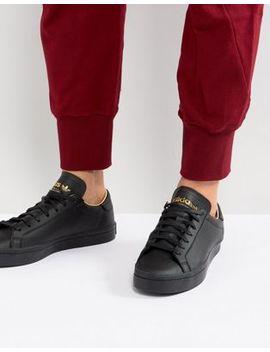 Adidas Originals Court Vantage Trainers In Black Cq2562 by Adidas Originals