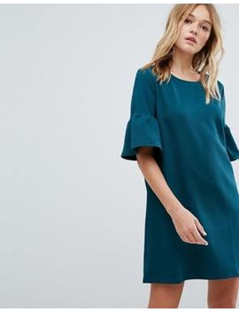 Pull&Bear Frill Sleeve Tee Dress by Pull&Bear