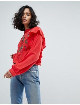 Free People The Amy Embroidered Top by Free People