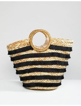 River Island Straw Tote Beach Bag by River Island