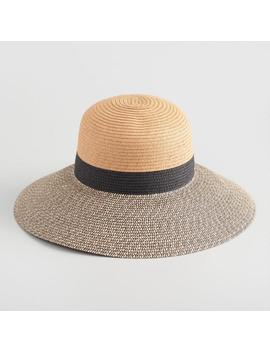 Natural And Black Straw Sun Hat by World Market