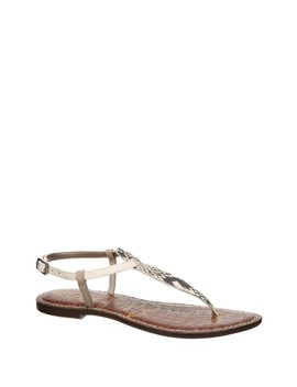 Gigi Snake Embossed Thong Sandal by Sam Edelman