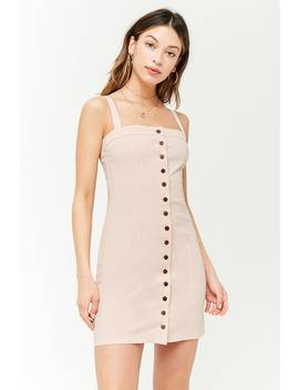 Sleeveless Button Front Dress by Forever 21