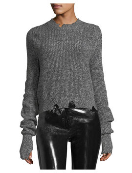 Crewneck Long Sleeve Knit Sweater by Helmut Lang