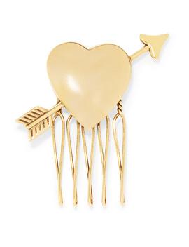 Love Struck Gold Tone Hair Slide by Lelet Ny