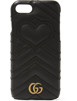 Gg Marmont Quilted Leather I Phone 7 Case by Gucci