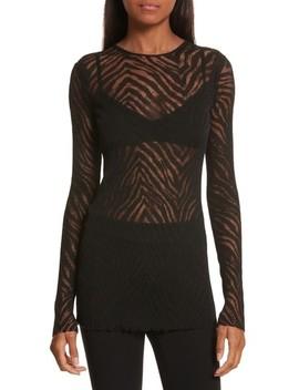 Zebra Knit Pullover by Helmut Lang