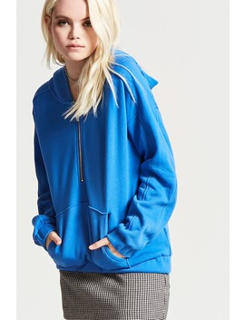 Fleece Knit Hoodie by F21 Contemporary