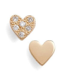 Pavé Diamond Heart Stud Earrings by ZoË Chicco