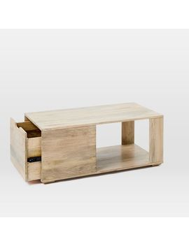Pure Storage Coffee Table   Whitewash by West Elm