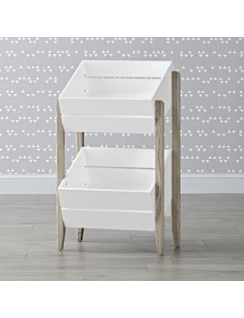 Wrightwood Grey And White Toy Storage Crates by Crate&Barrel
