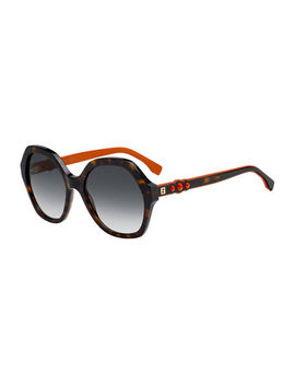 Studded Two Tone Acetate Sunglasses by Fendi
