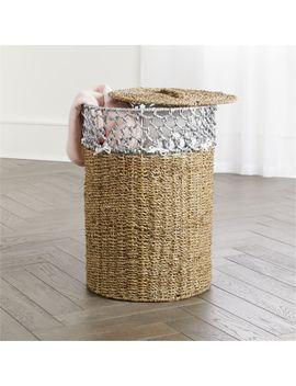 Open Weave Hamper by Crate&Barrel