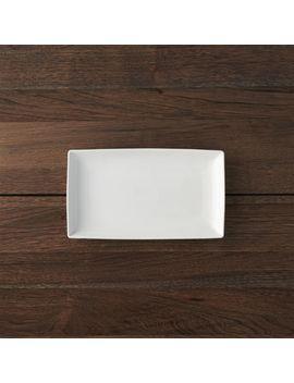 "Rectangular 10""X5.75"" Plate by Crate&Barrel"