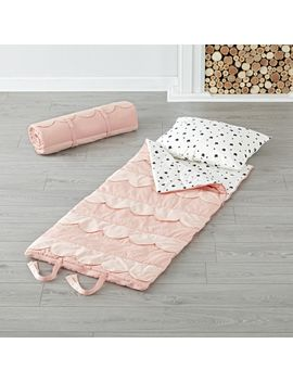 Scalloped Pink Toddler Sleeping Bag by Crate&Barrel