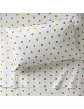 Organic Gold Polka Dot Twin Sheet Set by Crate&Barrel