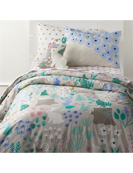 Twin Folktale Forest Duvet Cover by Crate&Barrel