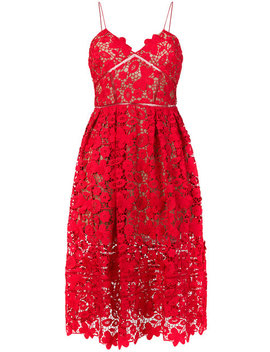 3 D Azaelea Lace Midi Dress by Self Portrait