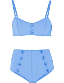 Lisa Marie Fernandez Genevieve Seersucker Bikini Briefs by Lisa Marie Fernandez