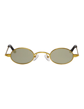 Gold Doris Sunglasses by Roberi & Fraud