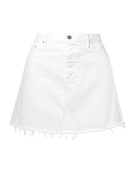 Eva Frayed Denim Mini Skirt by Grlfrnd