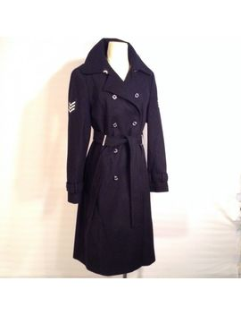 Tommy Hilfiger Military Wool Blend Belted Trench Coat Size Medium by Ebay Seller