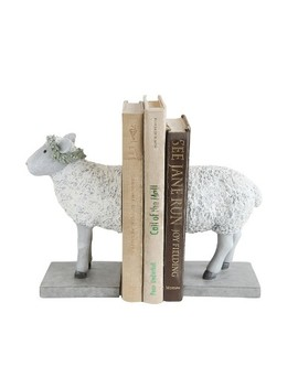 Resin Sheep Bookends Set Of 2   3 R Studios by 3 R Studios