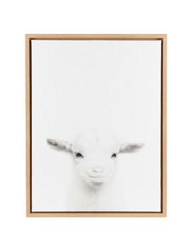 Baby Goat Framed Canvas Art   Uniek by Uniek